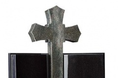 "The 42"" cross forms the majestic centrepiece to this unusual book style memorial carved rose is the stand-out feature of this classically designed book memorial - shown in black and tropical green granite.page 26"" (h) x 16"" (w) x 3"" (d)cross 42"" (h) x 18"" (w) x 4"" (d) Base 3"" (h) x 36"" (w) x 12"" (d)Product code -  16096"