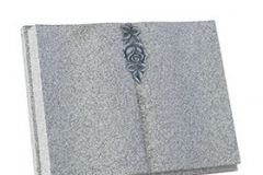 "The elegant carved rose is the stand-out feature of this classically designed book memorial - shown in lunar grey granite.book 18"" (h) x 24"" (w) x 3"" (d)rest 14"" (h) x 12"" (w) x 6"" (d)Base 3"" (h) x 27"" (w) x 15"" (d)Product code -  16101"