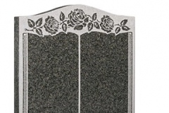 "Always popular as a fitting memorial to two loved ones with room on each page for their own inscription - shown in dark grey granite.Headstone 27"" (h) x 21"" (w) x 3"" (d)Base 3"" (h) x 24"" (w) x 12"" (d)Product code -  EC138"