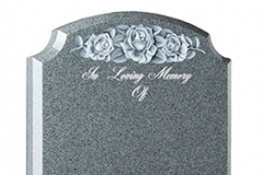 "The deep CNC carved rose design is the highlight of this memorial. The inset image shows the carving together with a resin moulded alternative - shown in avon grey granite.Headstone 30"" (h) x 21"" (w) x 3"" (d)Base 3"" (h) x 24"" (w) x 12"" (d)Product code - 16051"