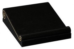 "A scroll shaped tablet with gold pin lines - shown in black granite.4""-2(H) X 18"" (W) X 18"" (D)Product code - 16193"