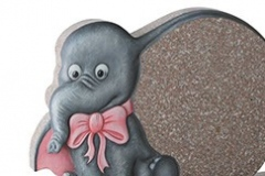 "A cartoon elephant design is the focus of this memorial - shown in xiamen pink granite.headstone 16"" (h) x 22"" (w) x 3"" (d)Base 3"" (h) x 24"" (w) x 12"" (d)Product code -  16177"