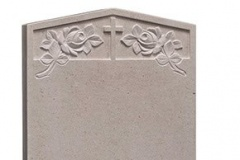"This beautiful headstone is carved with a cross and rose design - shown in nabresina.headstone 27"" (h) x 21"" (w) x 3"" (d)Base 3"" (h) x 24"" (w) x 12"" (d)Product code -  16124"