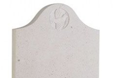 "This deep ogee headstone features a carved dove, which is created using modern cnc techniques - shown in brenna stone.headstone 27"" (h) x 21"" (w) x 3"" (d)Base 3"" (h) x 24"" (w) x 12"" (d)Product code -  16127"