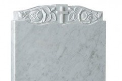 "This attractive hand carved panel flows the shape of the headstone - shown in carrara marble.headstone 27"" (h) x 21"" (w) x 3"" (d)Base 3"" (h) x 24"" (w) x 12"" (d)Product code -  16132"