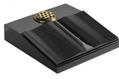 "A shaped book design with cord, tassel and vase - shown in black granite.  desk 5-3"" (h) x 18"" (w) x 18"" (d)  Product code -  16191"
