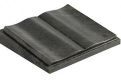 "A hand shaped and polished book design - shown in black granite.  desk 4-2"" (h) x 18"" (w) x 15"" (d)  Product code -  16190"