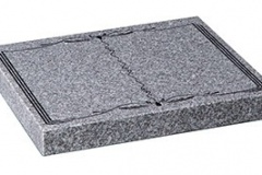 "Sandblasted book design - shown in lunar grey granite.  desk 2"" (h) x 18"" (w) x 15"" (d)  Product code -  16185"