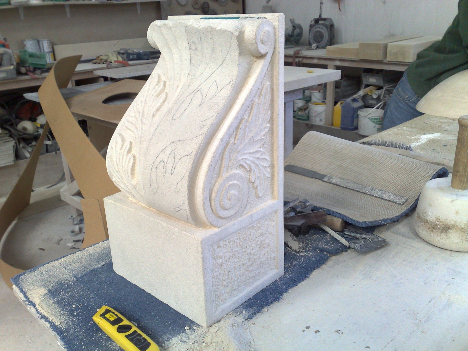 Limestone-carving