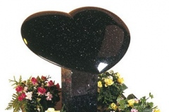 "The cushioned heart and pedestal make an impressive memorial - shown in black granite.heart 22"" (h) x 24"" (w) x 4"" (d)rest 18"" (h) x 8"" (w) x 6"" (d)Base 4"" (h) x 24"" (w) x 24"" (d)Product code -  16114"