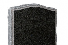 "The pitched edges and margins together with the carved roses frame the polished face of the headstone - shown in black granite.Headstone 30"" (h) x 24"" (w) x 4"" (d)Base 4"" (h) x 30"" (w) x 12"" (d)Product code - 16057"