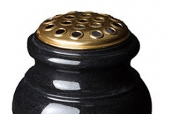 "Classic turned globe vase - shown in black granite.12"" (h) x 6"" (w) x 6"" (d)Product code -  16210"